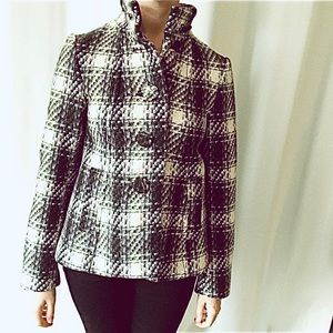 H&M Chunky Plaid Babydoll Swing Jacket Size 4